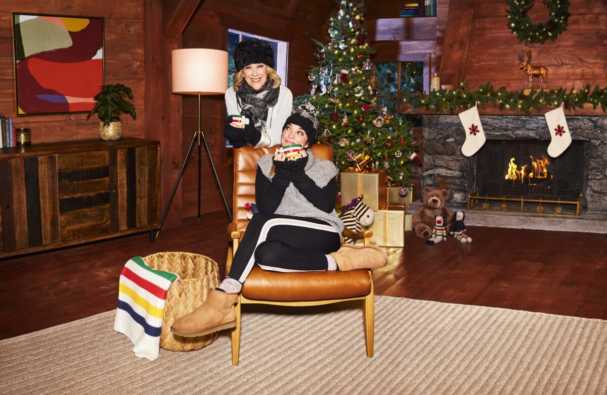 Catherine O'Hara and Annie Murphy Star in Hudson's Bay 2020 Holiday Campaign A Call to Joy. photo: Hudson's Bay