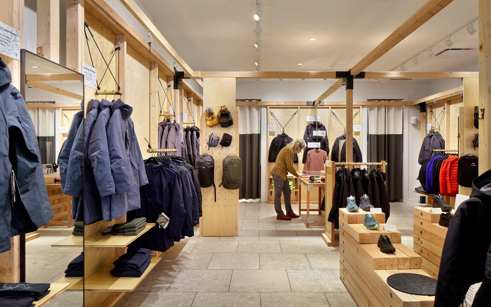 Interior of new Arc'teryx Icon store in Walnut Creet, CA. Photo: Arc'teryx