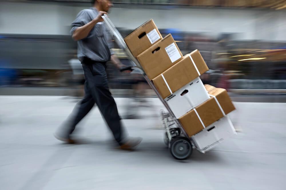 Direct delivery driver with boxes