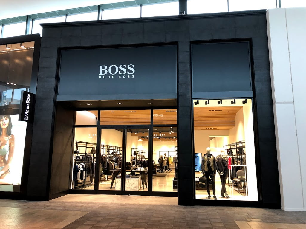 Exterior of new Hugo Boss Store at CF Carrefour Laval. Photo: Hugo Boss
