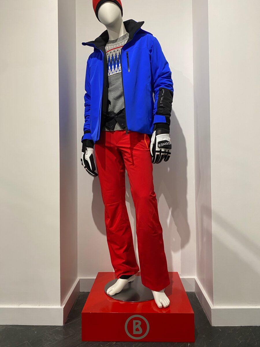 Close up of Bogner's display mannequin. Photo: Craig Patterson