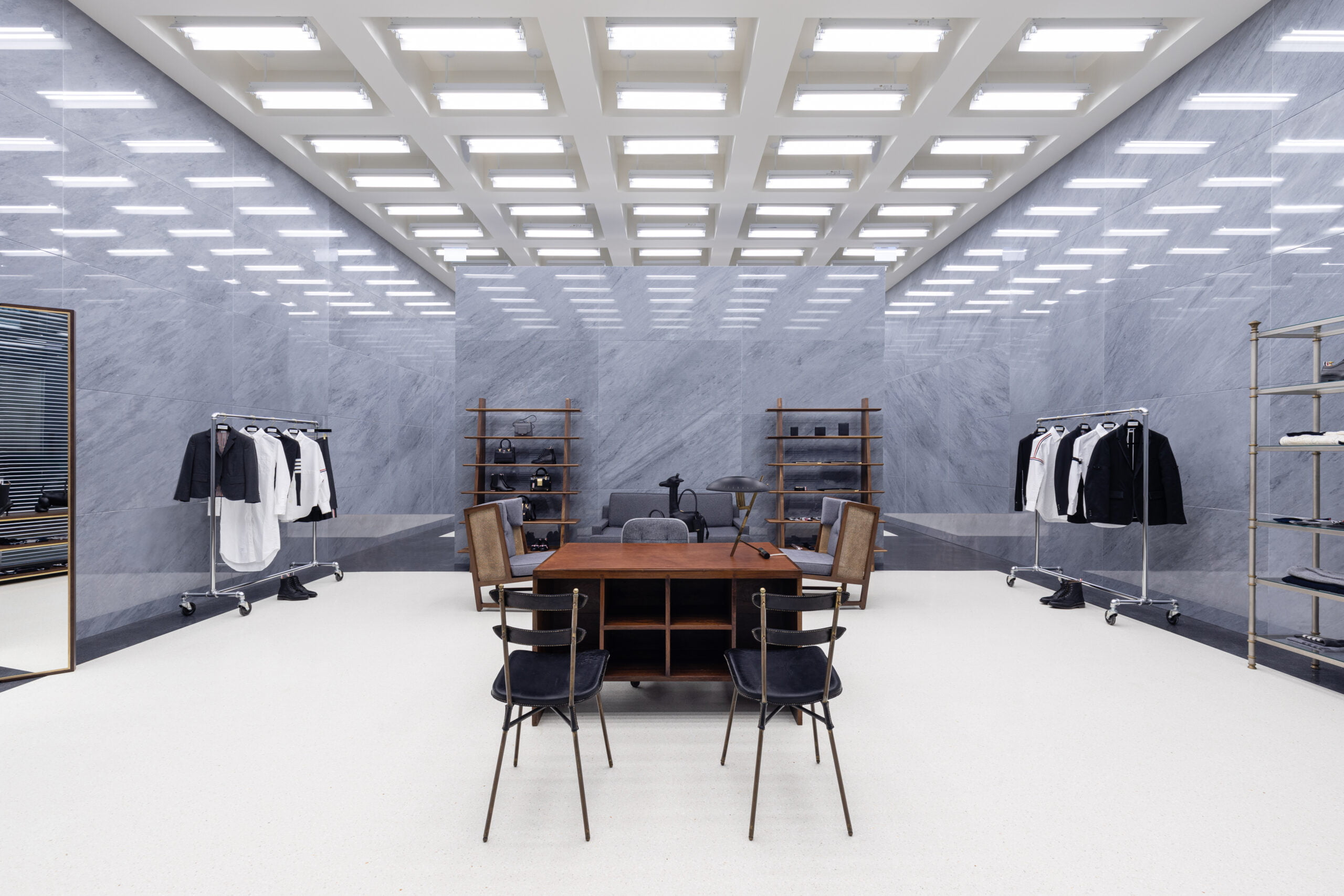 Interior images of new Thom Browne Flagship at Yorkdale Shopping Centre. Photos: Thom Browne