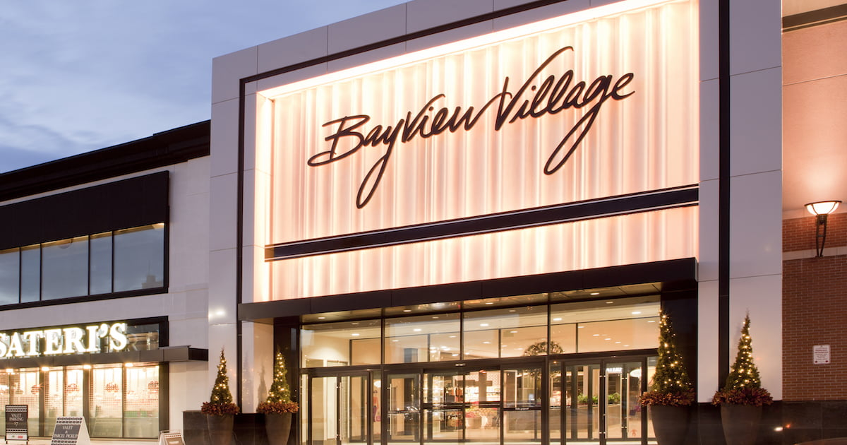 Exterior of Bayview Village Shopping Centre. Photo: Bayview Village
