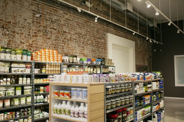 PRODUCT SHELVES IN BODY ENERGY CLUB STORE. PHOTO: YELP.CA