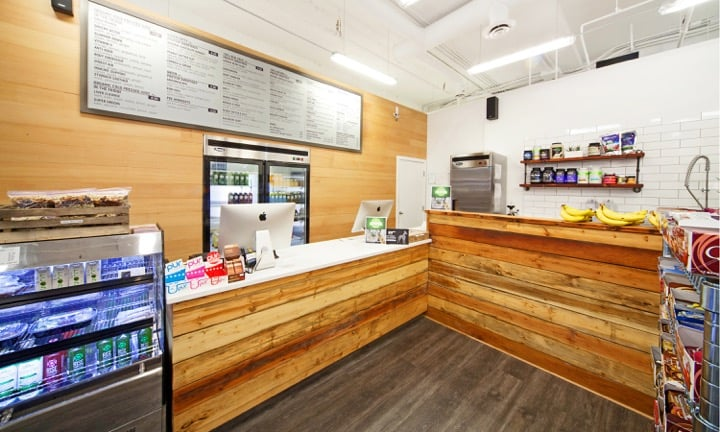 INTERIOR OF BODY ENERGY CLUB SHOWING FOOD PREP COUNTER. PHOTO: YELP.CA