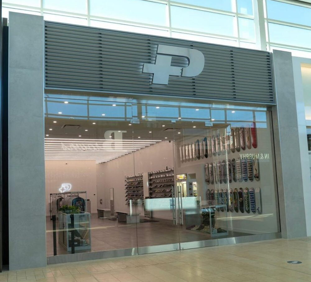 Exterior of PLUS flagship at Yorkdale Shopping Centre. Photo: PLUS