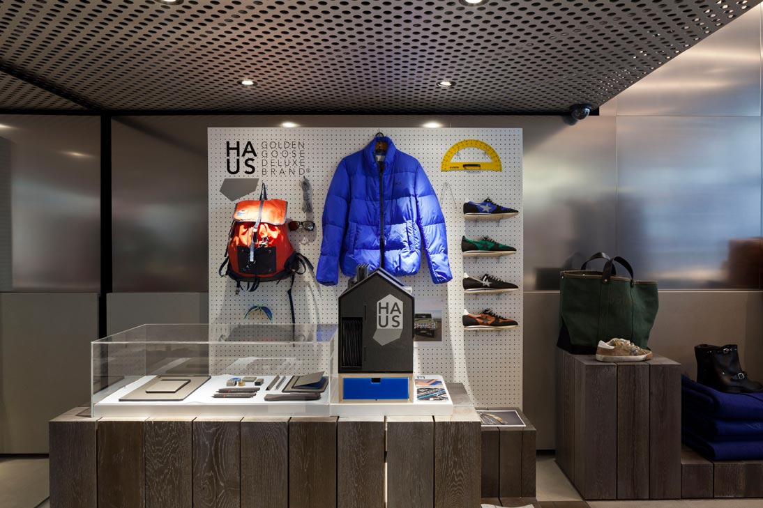 Interior of the Golden Goose Flagship in Milan, Italy. Photo: A13 Studio