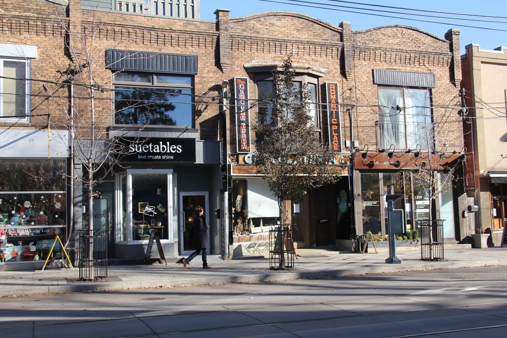 Exterior of Suetables store in Toronto's Roncesvalles neighbourhood. Photo: Suetables