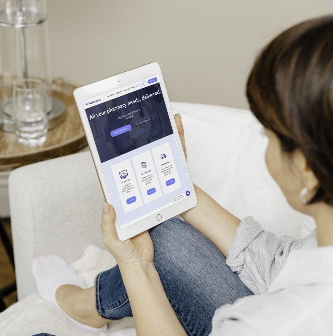 Mednow.ca customer on smart device. Photo: Mednow.ca