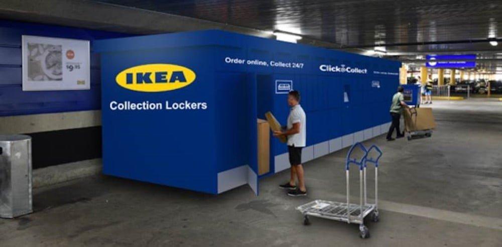 IKEA Collection Lockers. Rendering: IKEA