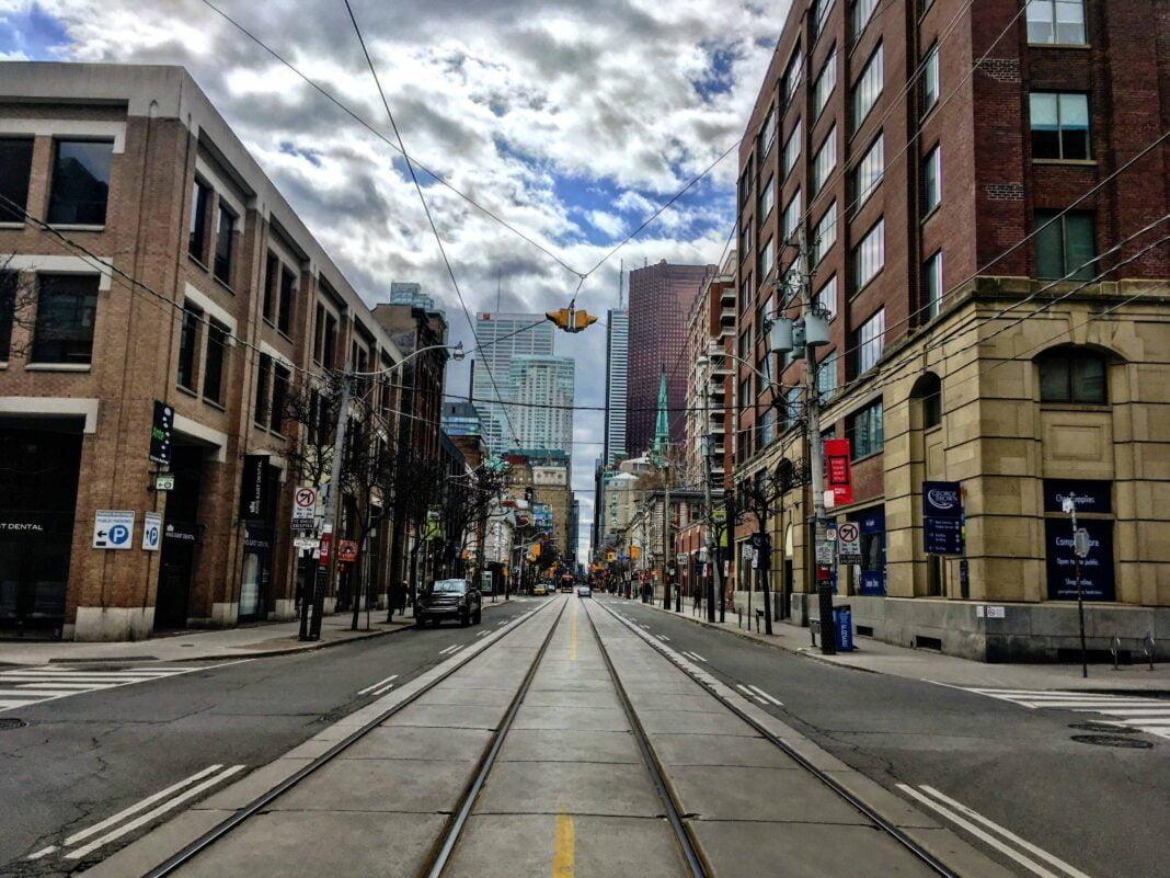 A quiet day on Toronto's King Street East. Photo: Dustin Fuhs
