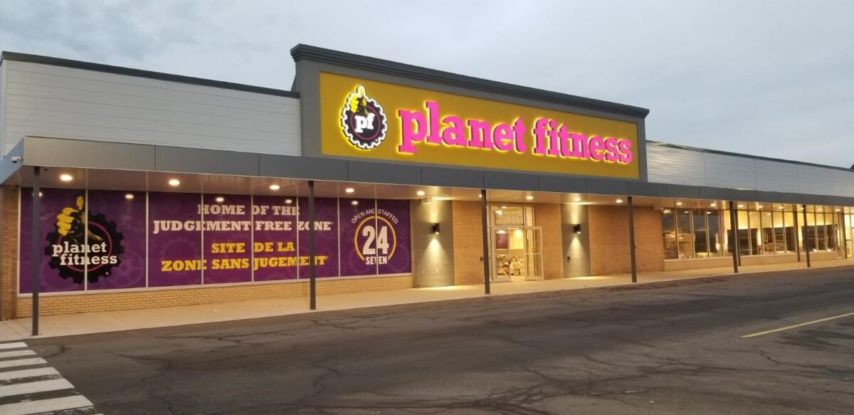 Exterior of new Moncton Planet Fitness location. Photo: Planet Fitness