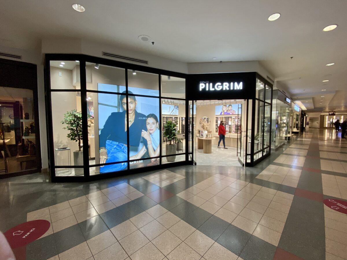 Exterior of Pilgrim store in Place Montreal Trust. Photo: Maxime Frechette