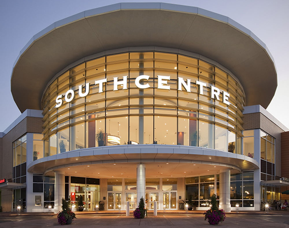 Exterior of Southcentre Mall. Photo: Southcentre Mall