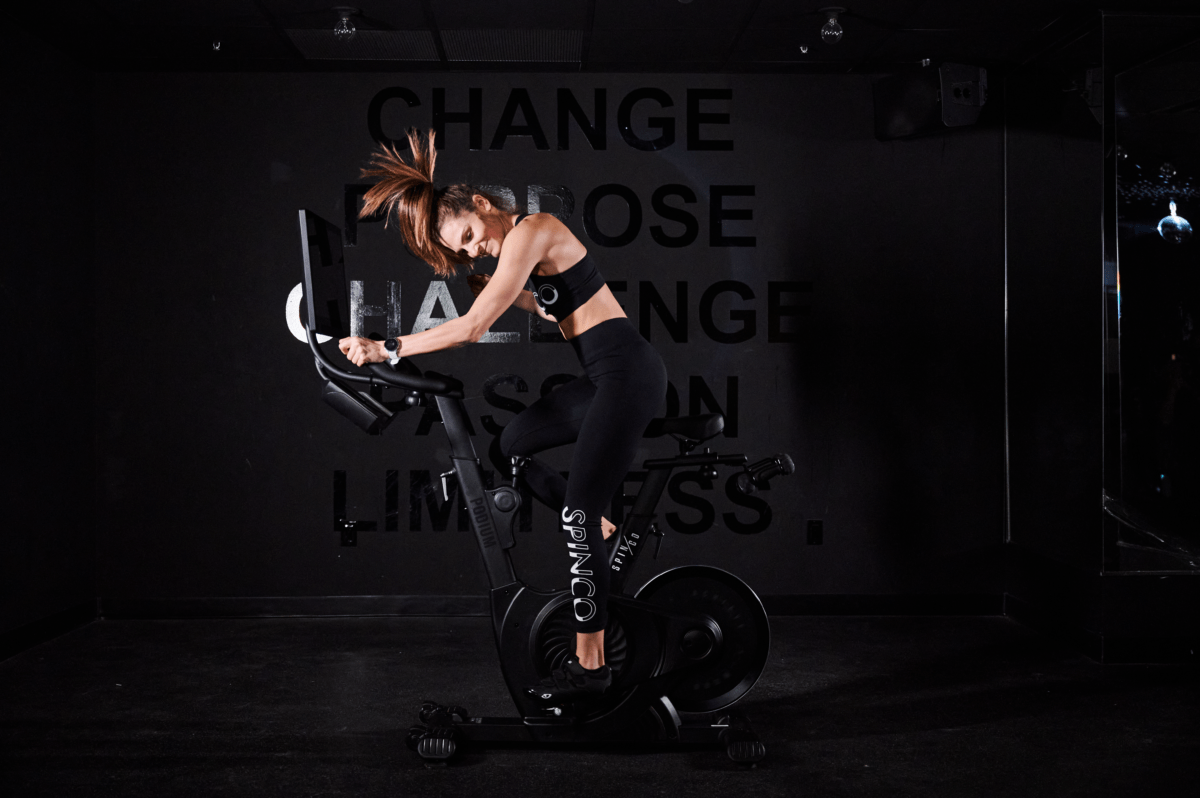 SPINCO's 'Podium' at-home stationary bike. Photo: SPINCO