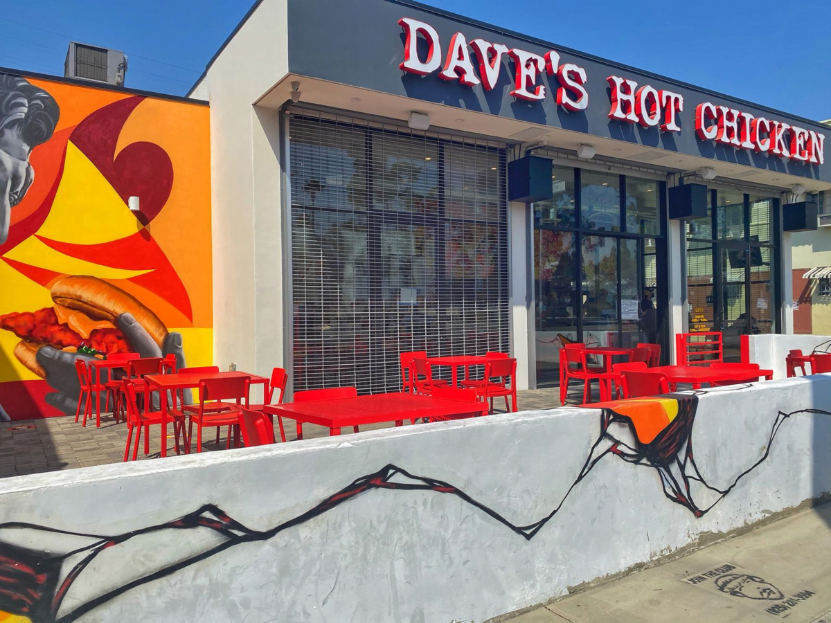 Exterior of Dave's Hot Chicken. Photo: Dave's Hot Chicken