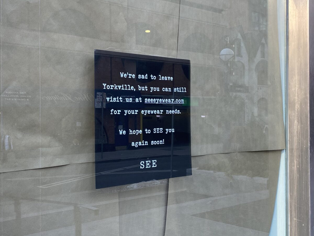 Signage on the front of the SEE Eyewear store at 153 Cumberland Street. Photo: Craig Patterson