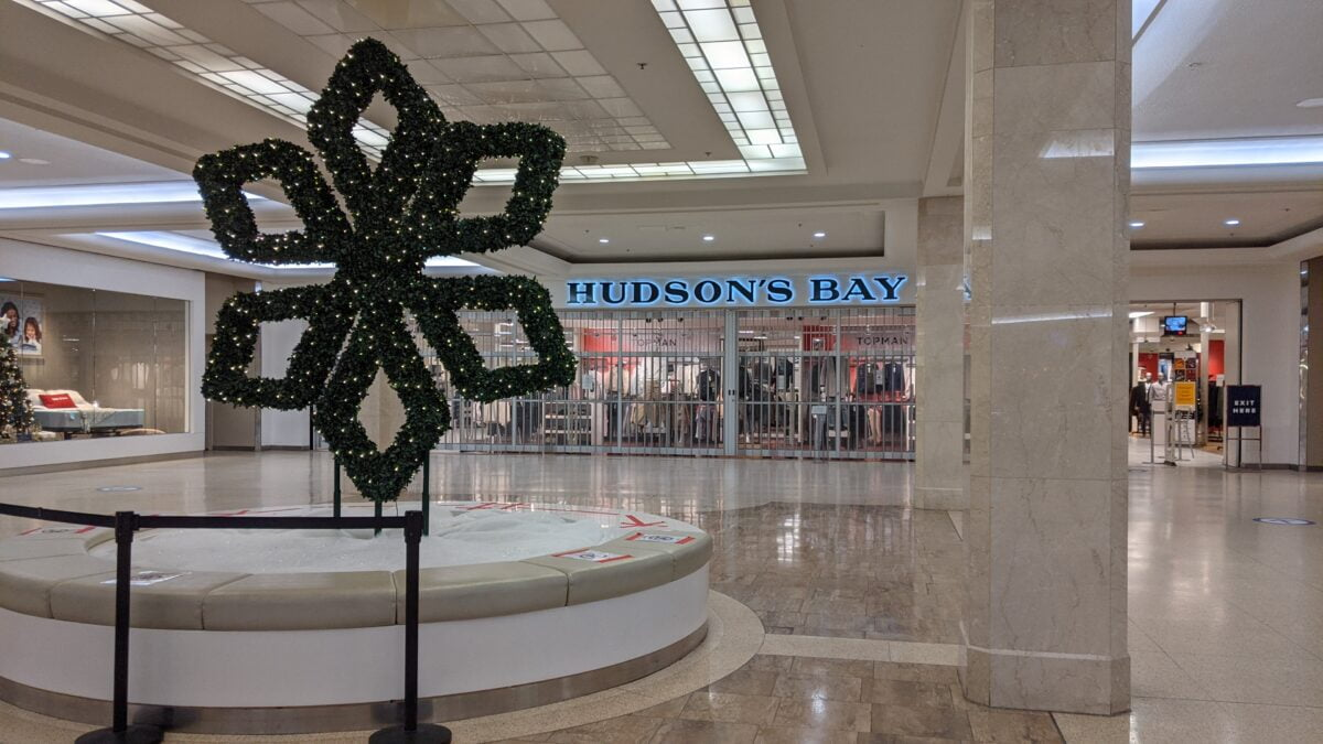 Hudson's Bay West Edmonton Mall December 2020 Holiday