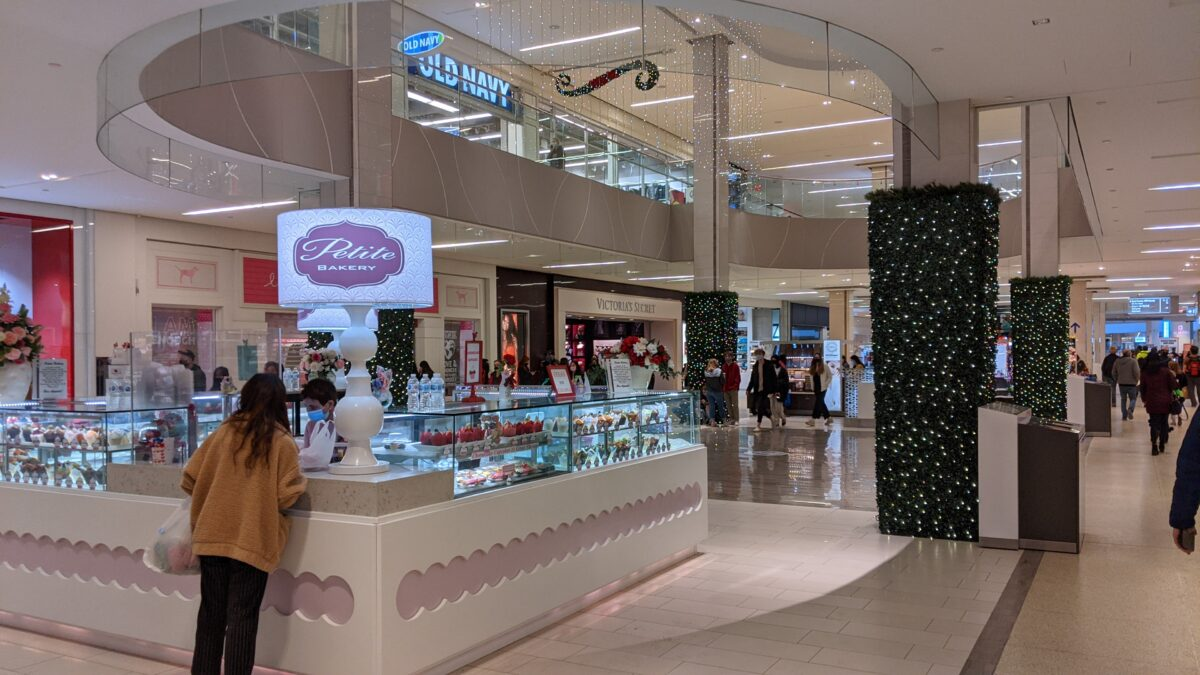 Victoria's Secret/PINK at West Edmonton Mall (Petite Bakery in front of them)