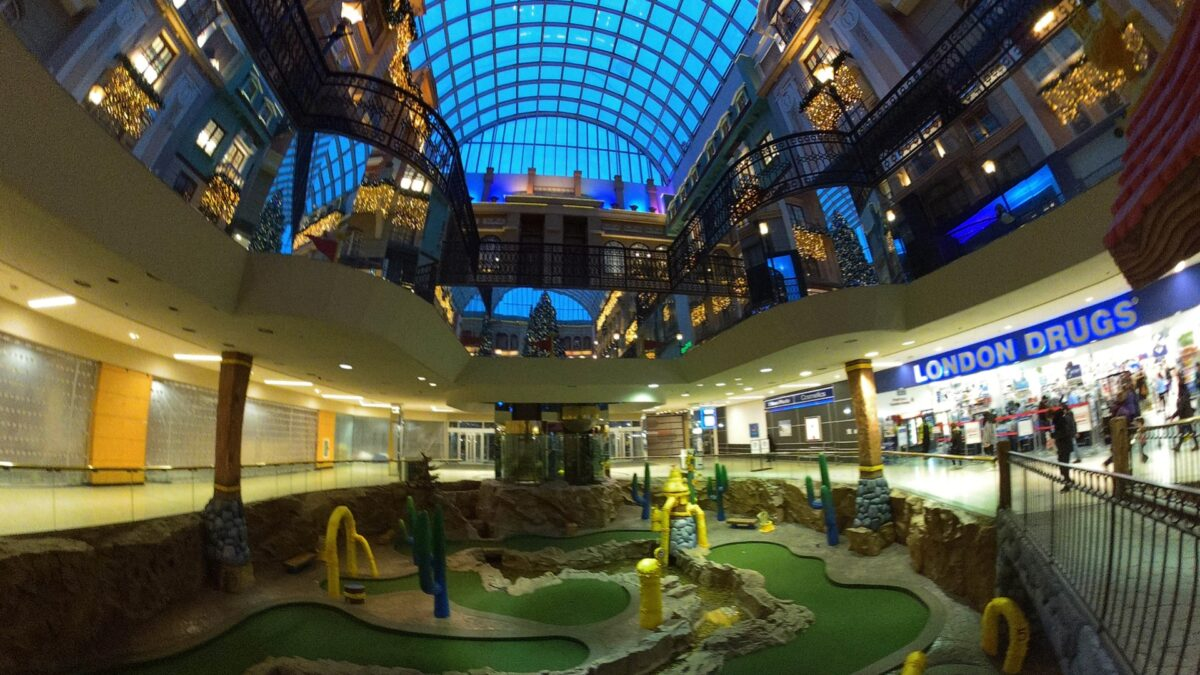 London Drugs (next to Professor WEM's Adventure Golf) at West Edmonton Mall