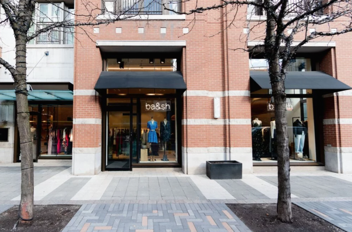 Exterior of ba&sh store in Yorkville