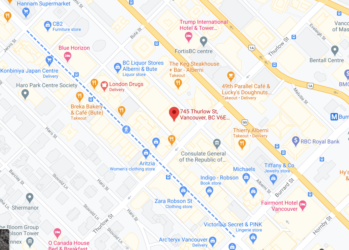 Click for interactive Google Map of 745 Thurlow Street, Vancouver