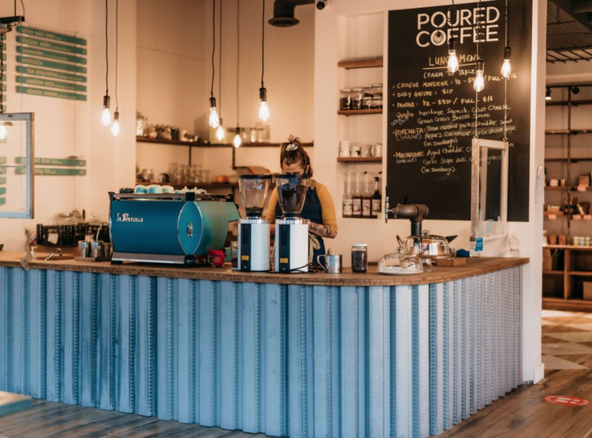 Interior of the Poured Coffee shop. Photo: Google