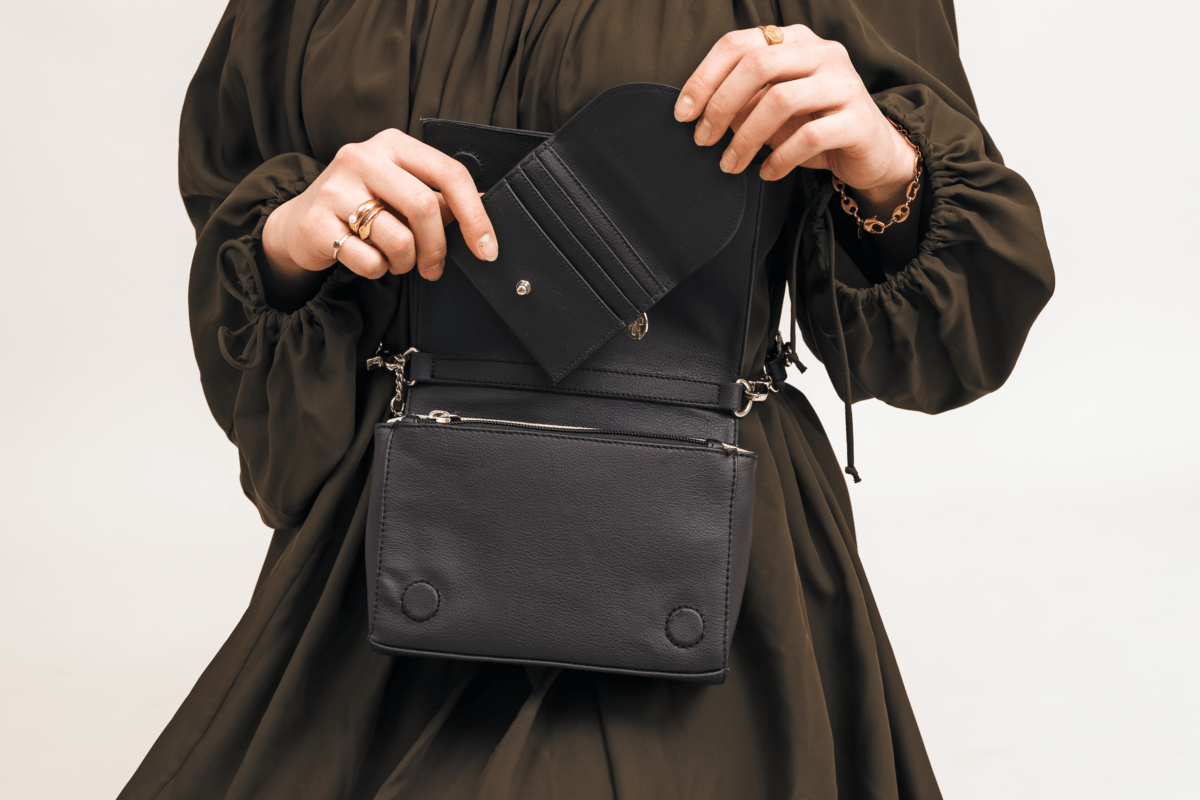 The Card Holder and Convertible Belt Bag. Photo: Poppy Barley