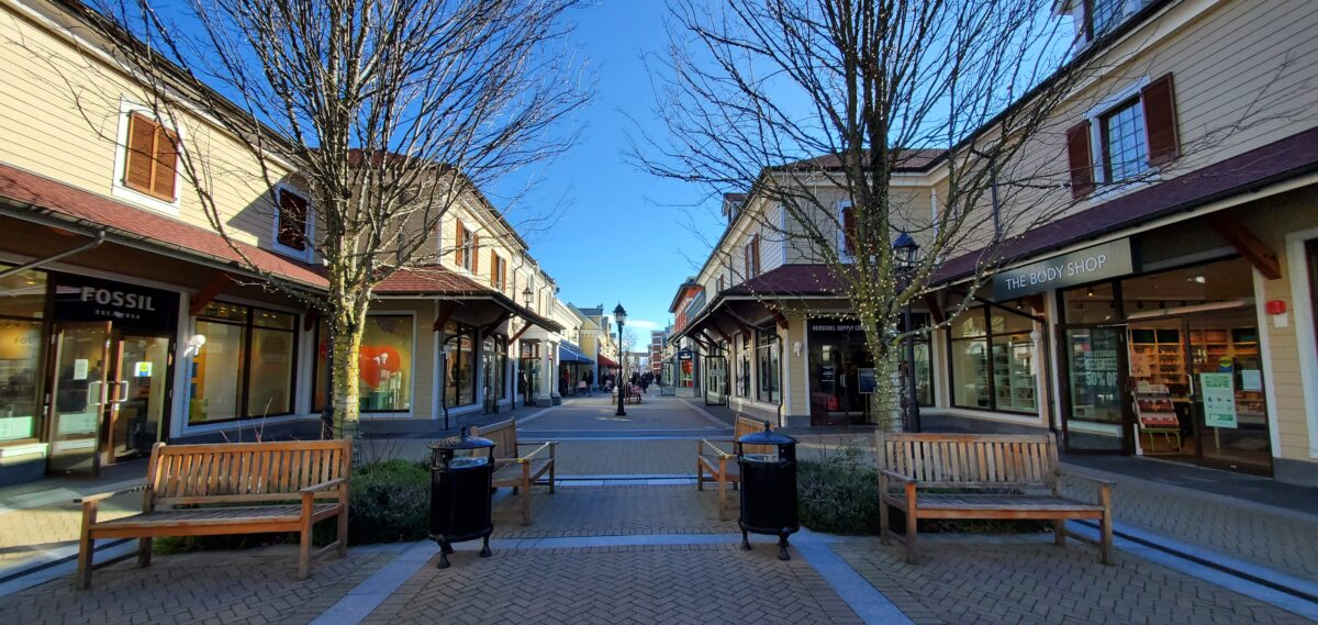 North Corridor in Phase One at McArthur Glen Vancouver.