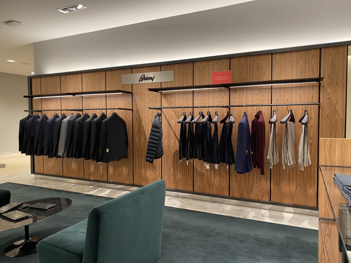 Interior of Brioni store that is set to leave Holt Renfrew Ogilvy. Photo: Maxime Frechette