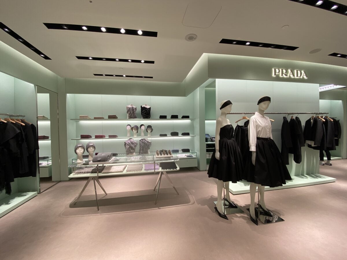 Interior of new Prada store in Montreal's Holt Renfrew Ogilvy. Photo: Maxime Frechette