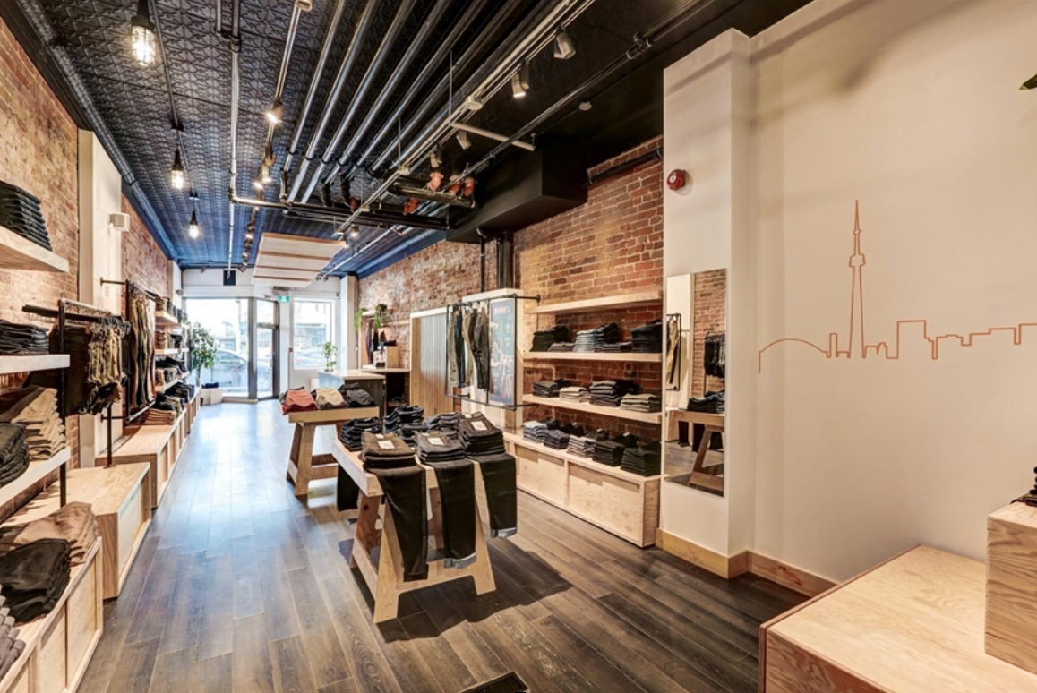 Interior of new DUER store in Kitsilano. Photo: DUER