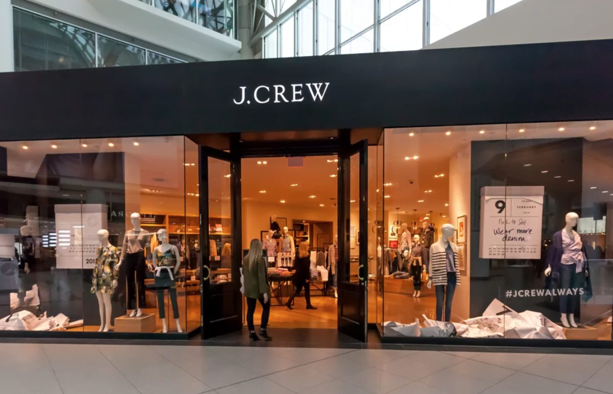 Exterior of previous J. Crew store in the CF Toronto Eaton Centre. Photo: Retail Insider