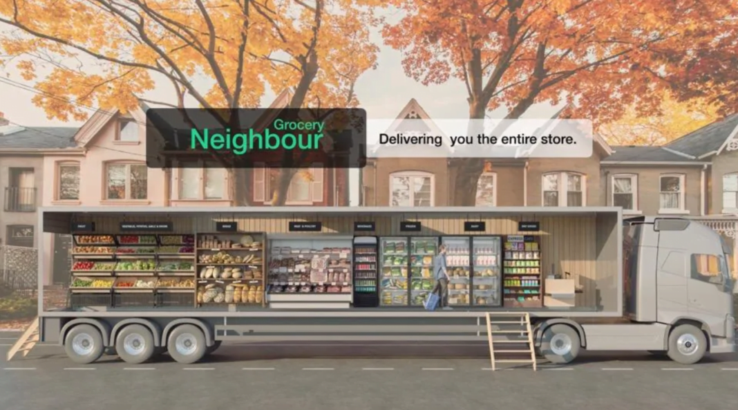 Rendering of the Grocery Neighbour truck concept. Rendering: Grocery Neighbour