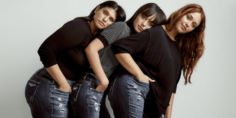 Models in Silver Jeans. Photo: Silver Jeans