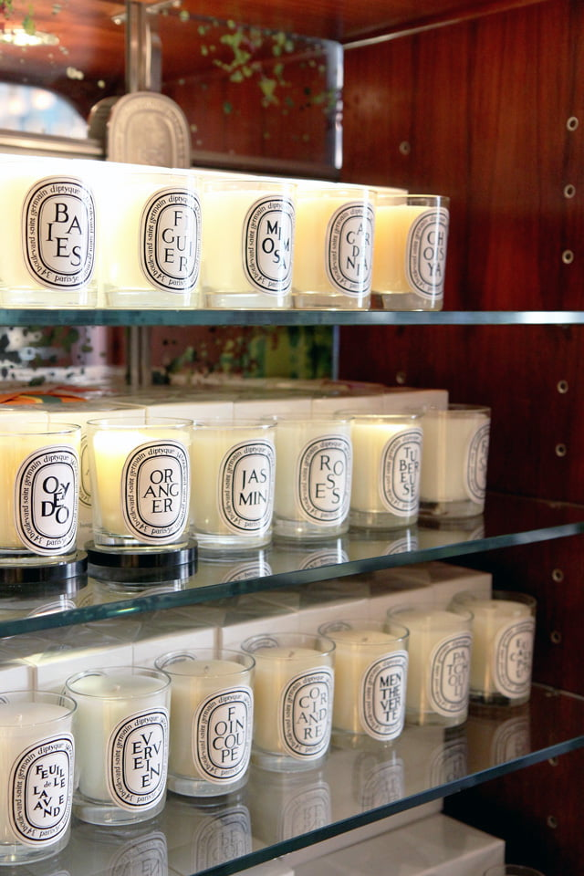 Diptyque candles. Photo: Diptyque